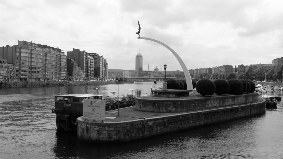 Vue sur la Meuse à Liège
